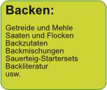 Backen: